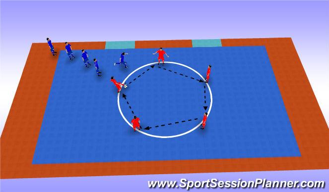 Futsal Session Plan Drill (Colour): Reloj