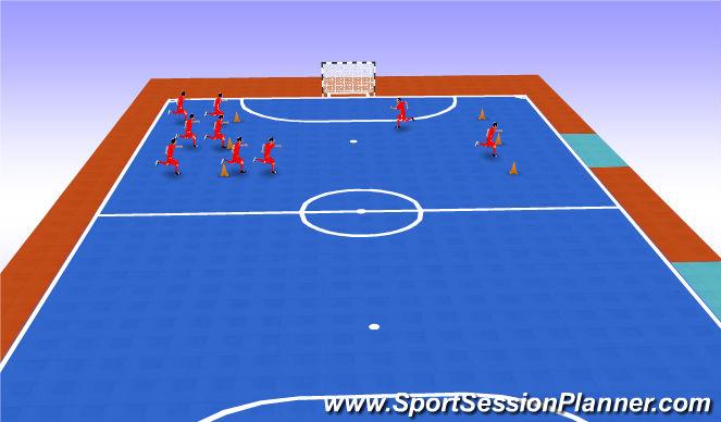 Futsal Session Plan Drill (Colour): Vagon