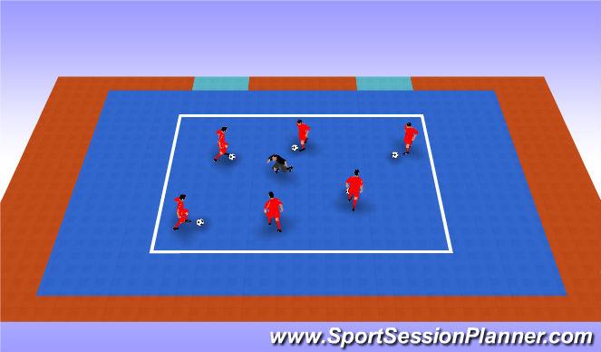 Futsal Session Plan Drill (Colour): Entrenador loco