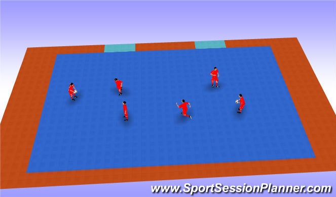 Futsal Session Plan Drill (Colour): Que no se junten