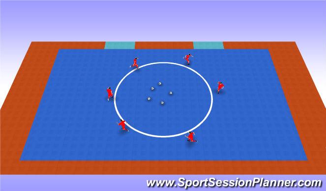 Futsal Session Plan Drill (Colour): Tu balon