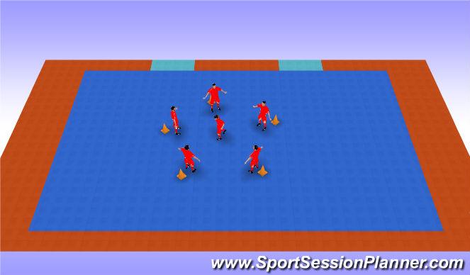 Futsal Session Plan Drill (Colour): Sal del corro
