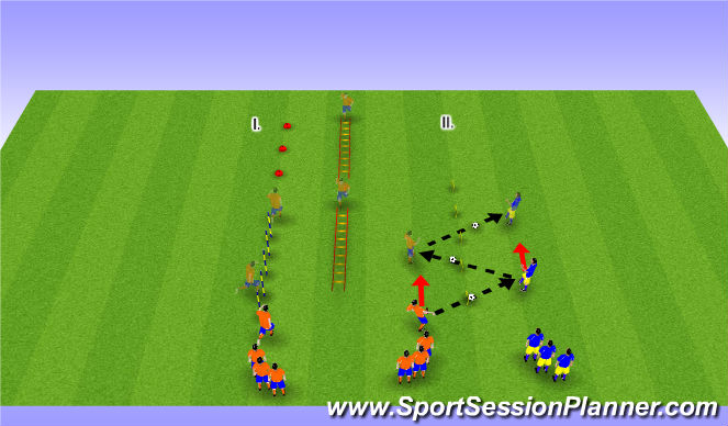 Football/Soccer Session Plan Drill (Colour): Agility Warm-up