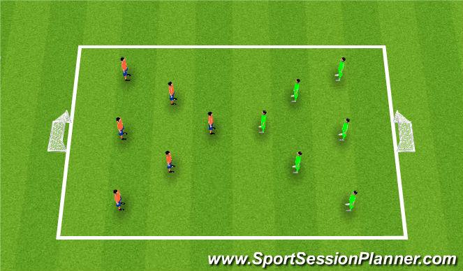 Football/Soccer Session Plan Drill (Colour): Team Building Activity: Handball