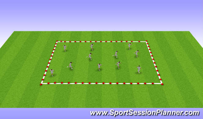 Football/Soccer Session Plan Drill (Colour): Single Leg Efficiency