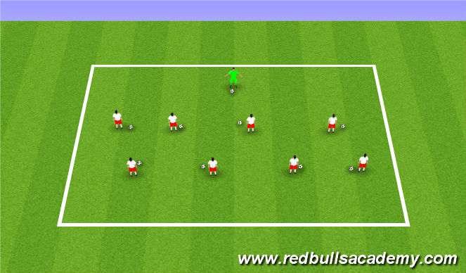 Football/Soccer Session Plan Drill (Colour): Warm-up/Arrival Activity