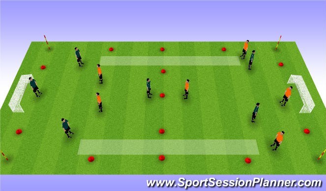 Football/Soccer Session Plan Drill (Colour): Positional Keep away