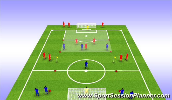 Football/Soccer Session Plan Drill (Colour): Defending in Transition