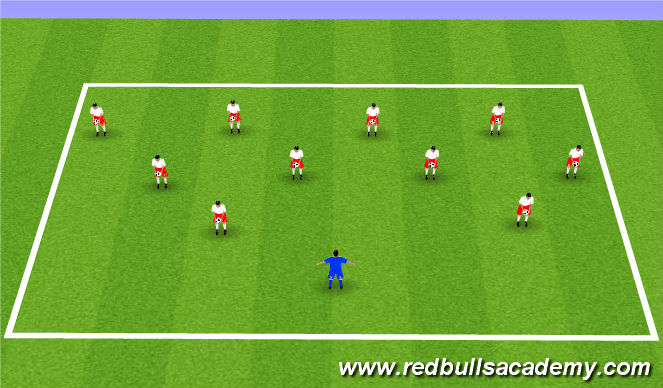 Football/Soccer Session Plan Drill (Colour): Ball mastery warm-up
