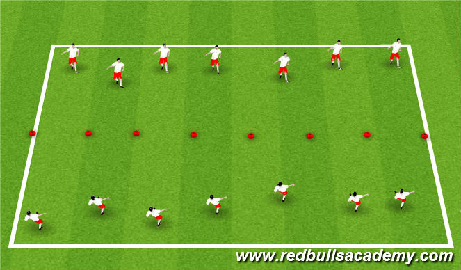 Football/Soccer Session Plan Drill (Colour): Knock the cones out