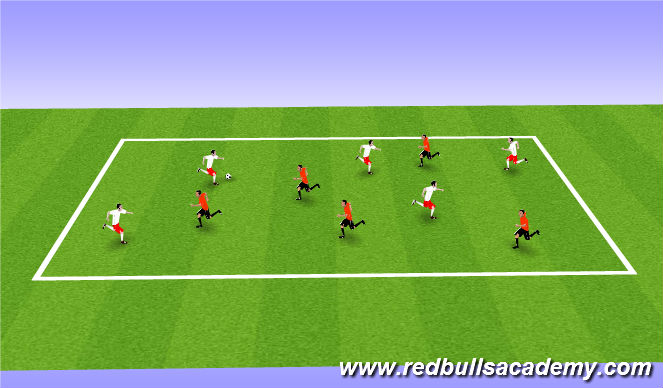 Football/Soccer Session Plan Drill (Colour): Passing to score