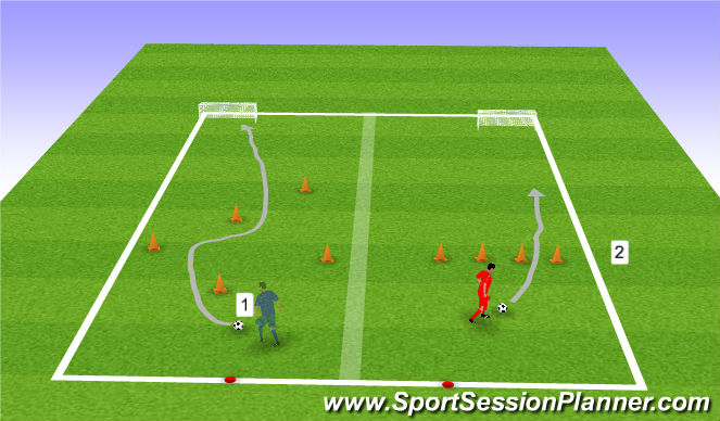 Football/Soccer Session Plan Drill (Colour): Acitivities 1 & 2