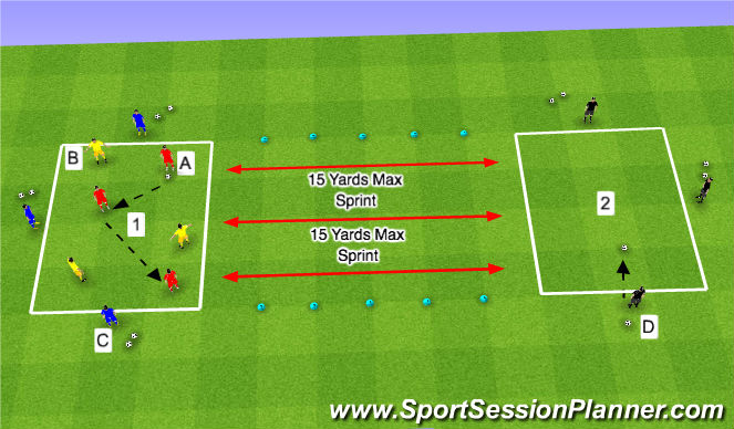 Football/Soccer Session Plan Drill (Colour): Basic