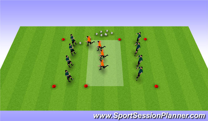 Football/Soccer Session Plan Drill (Colour): def shape box