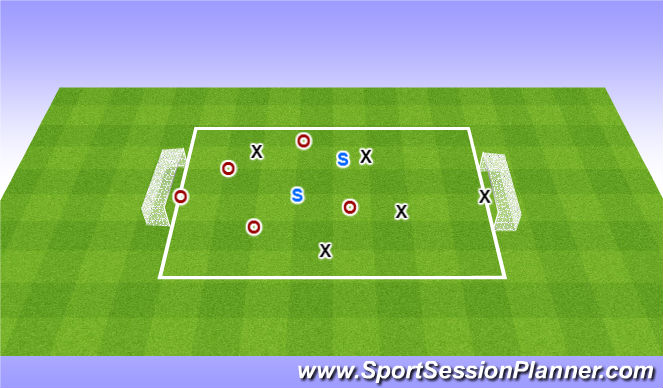 Football/Soccer Session Plan Drill (Colour): SSG: Dribbling