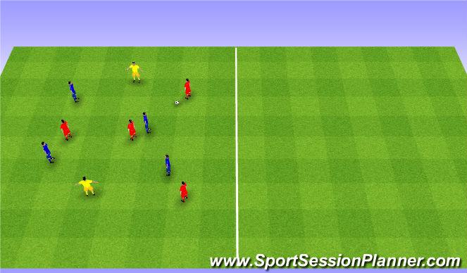 Football/Soccer Session Plan Drill (Colour): 4v4+2. 4v4+2.