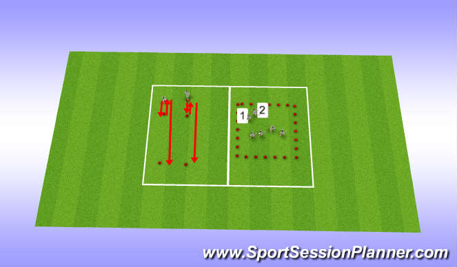 Football/Soccer Session Plan Drill (Colour): Running Mechanics