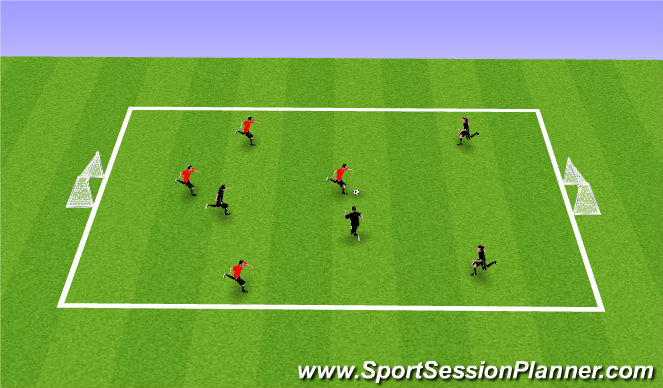 Football/Soccer Session Plan Drill (Colour): 4v4's free play