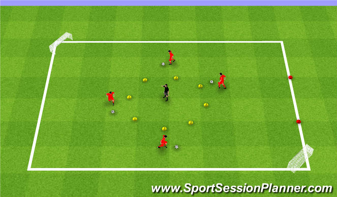 Football/Soccer Session Plan Drill (Colour): Activity #1 (extended)