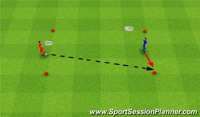 Football/Soccer Session Plan Drill (Colour): Pass + receive. Podanie i przyjęcie.