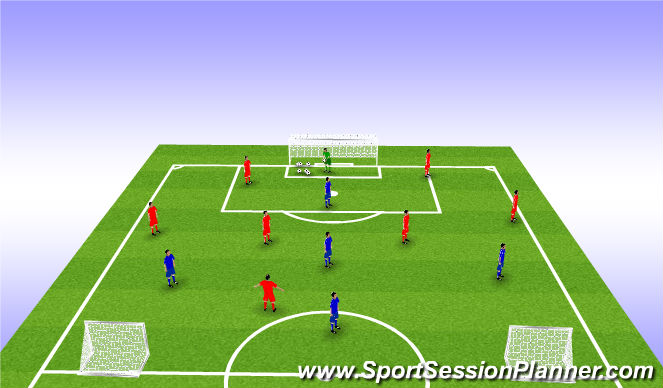 Football/Soccer Session Plan Drill (Colour): 7 v 5 Game