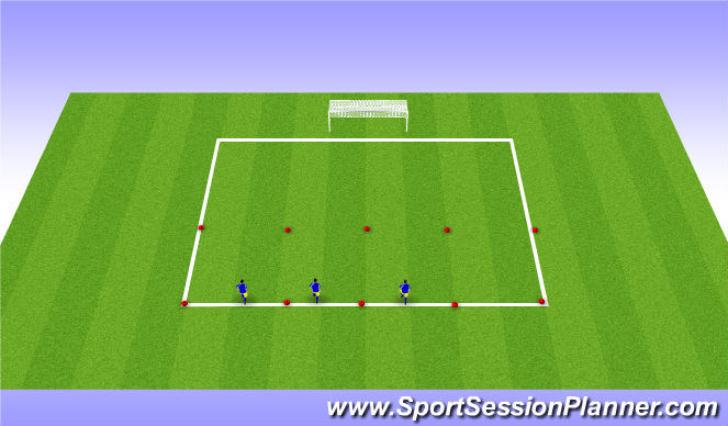 Football/Soccer Session Plan Drill (Colour): Fitness/Technical Stations