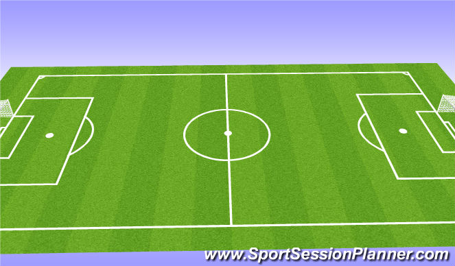 Football/Soccer Session Plan Drill (Colour): 6v6+1 Game