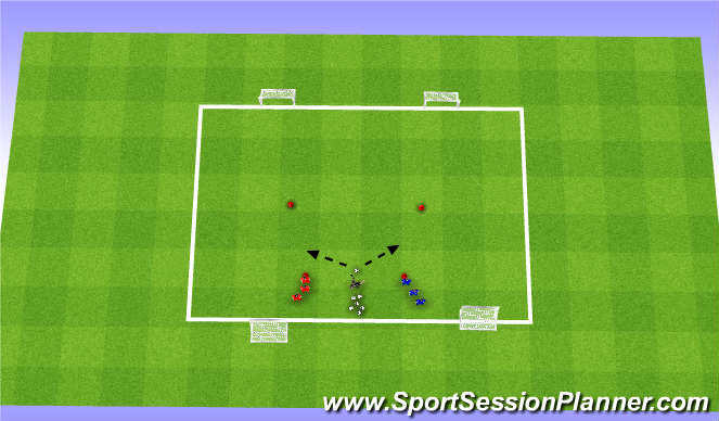 Football/Soccer Session Plan Drill (Colour): Get Out Of Here, Two Discs