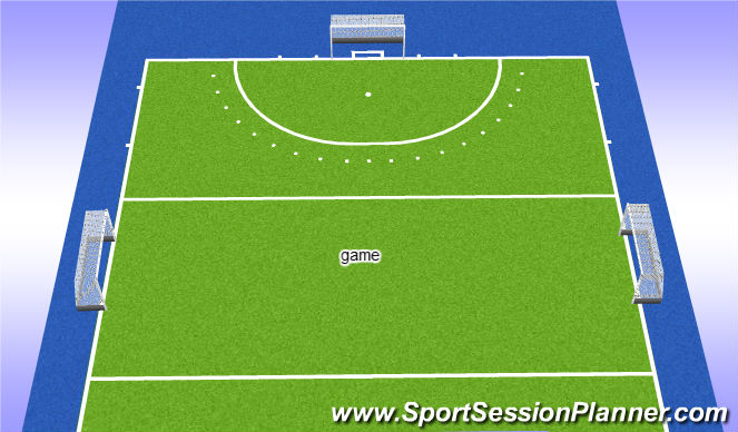 Hockey Session Plan Drill (Colour): game 6v6