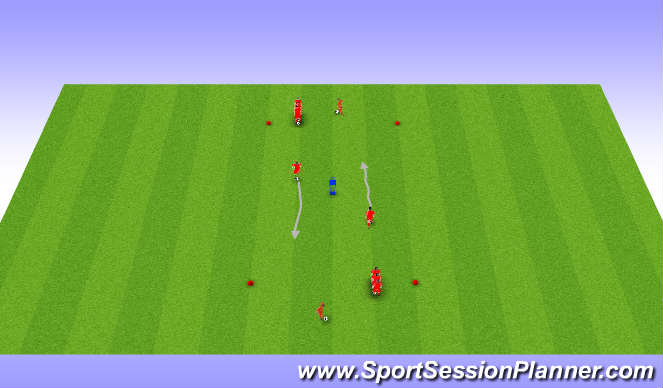 Football/Soccer Session Plan Drill (Colour): Dribbling with speed