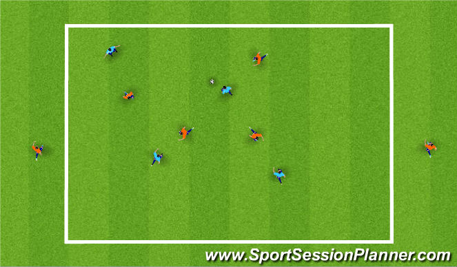 Football/Soccer Session Plan Drill (Colour): High Pressure Possession