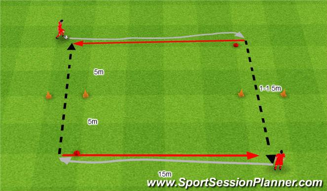 Football/Soccer Session Plan Drill (Colour): Podania słabszą nogą.