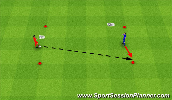 Football/Soccer Session Plan Drill (Colour): Pass + receive. Podanie i przyjęcie.