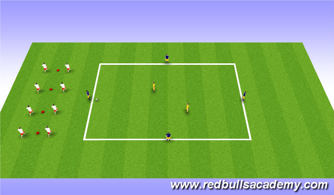 Football/Soccer Session Plan Drill (Colour): Warm-Up - SAQ & Rondo
