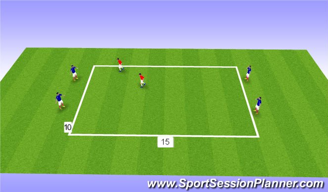 Football/Soccer Session Plan Drill (Colour): Cover Split