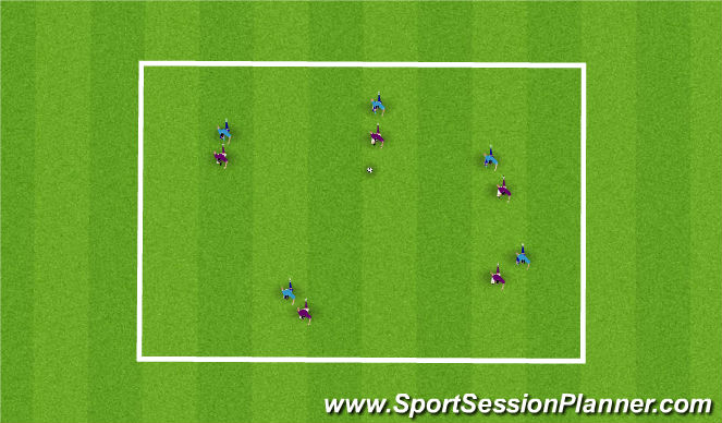 Football/Soccer Session Plan Drill (Colour): Man Markers