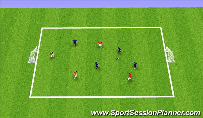 Football/Soccer Session Plan Drill (Colour): Play to Goals