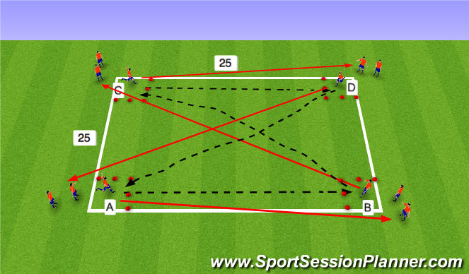 Football/Soccer Session Plan Drill (Colour): Switching Activty