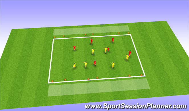 Football/Soccer Session Plan Drill (Colour): Recycling when blocked off