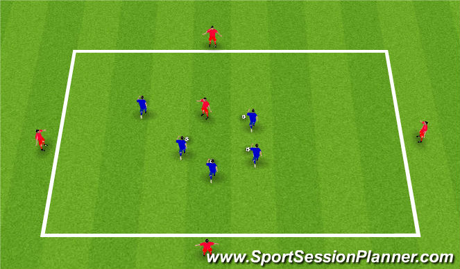 Football/Soccer Session Plan Drill (Colour): Session 2