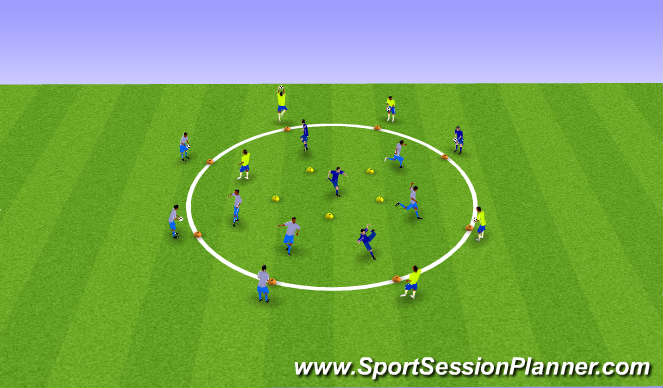 Football/Soccer Session Plan Drill (Colour): Changing direction