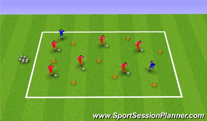 Football/Soccer Session Plan Drill (Colour): Wreck it Ralph