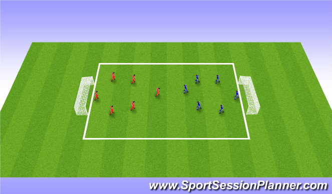 Football/Soccer Session Plan Drill (Colour): Scrimmage 10/15 mins