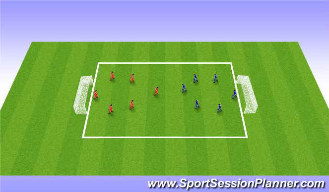 Football/Soccer Session Plan Drill (Colour): Scrimmage (10/15 mins)