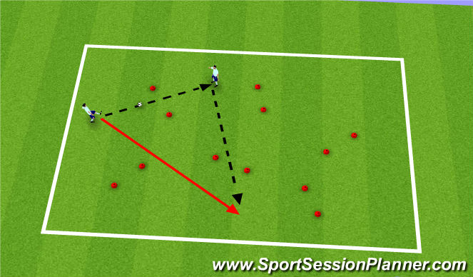 Football/Soccer Session Plan Drill (Colour): Move off the ball