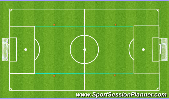 Football/Soccer Session Plan Drill (Colour): Beating the Block (Attacking in Central Areas) - SSG