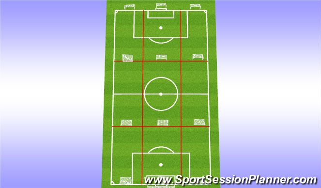 Football/Soccer Session Plan Drill (Colour): Set Up warm up