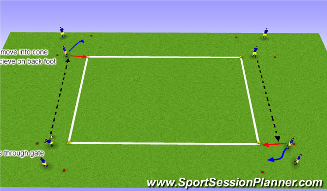 Football/Soccer Session Plan Drill (Colour): passing & recieiving