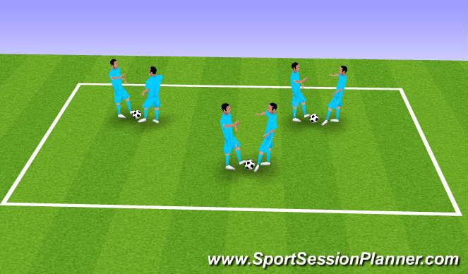 Football/Soccer Session Plan Drill (Colour): Rehearsal