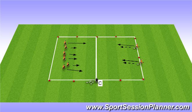 Football/Soccer Session Plan Drill (Colour): Version 1